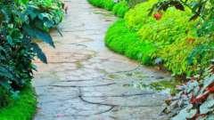 Садовые дорожки своими руками с малыми затратами из подручных материалов. Примеры оформления, размеры, фото