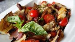 Салат из баклажанов и помидоров с чесноком: рецепт приготовления. Домашняя кулинария