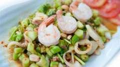 Салат из кальмаров и крабовых палочек, рецепт для гурманов