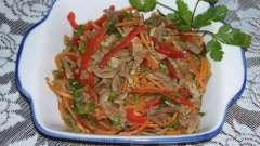 Салат из куриных пупков: инструкция по приготовлению