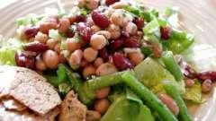 Салат с фасолью консервированной и сухариками: рецепт с фото. Салаты с белой и красной консервированной фасолью