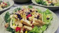 Салат с фасолью с копченой курицей - целых три рецепта!