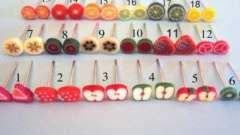 Сережки из пластики: сочные лимончики
