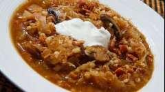 Щи с грибами и свежей капустой - вкусное блюдо