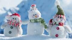 Симпатичный снеговик своими руками