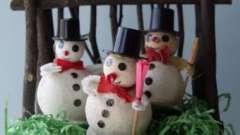 Снеговик из ваты своими руками. Поделки для детей