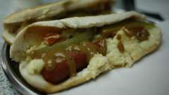 Сосиска с картофелем в лаваше - сытное блюдо для быстрого перекуса