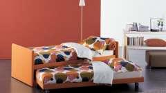 Современная выдвижная кровать детская