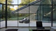 Стены стеклянные как способ дополнения интерьера