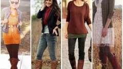 Стильные вещи: коричневые сапоги. С чем носить?
