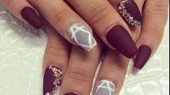Стильный маникюр на длинных ногтях