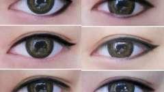 Стрелки для глаз: виды для различных форм глаз
