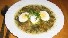 Суп из щавеля с яйцом – два варианта исполнения