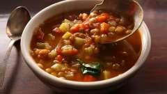 Суп вегетарианский из чечевицы: рецепт с фото