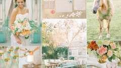 Свадьба персиковая: правила оформления и фото