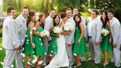 Свадьба в изумрудном цвете: оформление зала, образы невесты и жениха