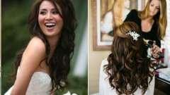 Свадебная прическа на длинные волосы распущенные в европейском стиле boho