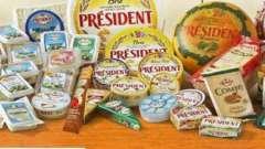 """Сыр """"президент"""": состав, ассортимент и производитель"""