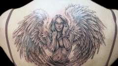 Татуировка ангела: значение тату. Татуировка крыльев ангела