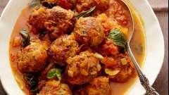 Тефтели из куриного фарша с подливкой: рецепт