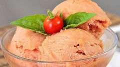 Томатное мороженое: рецепт приготовления. История появления томатного мороженого