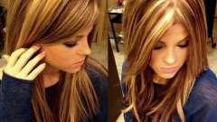 Тонирование и мелирование волос. Мелирование на светлые волосы темными прядями