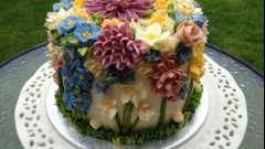 Торт с цветами - праздничный десерт