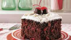 Торт шоколадно-вишневый: рецепт приготовления