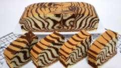 """Торт """"зебра"""" в мультиварке - красивый и необычный десерт!"""