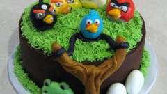 Торты «энгри бердз» – отличный подарок на детский день рождения