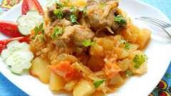 Тушеная картошка с курицей и грибами. Несколько рецептов этого блюда