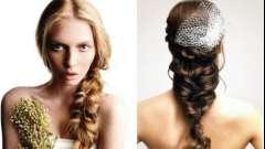 Ультрамодные косы на свадьбу