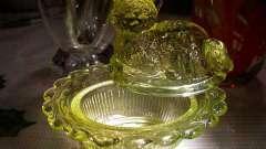 Урановое стекло. Изделия из уранового стекла (фото)
