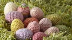 Вязание к пасхе крючком. Пасхальные яйца, корзинка крючком. Схемы, описание