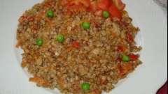 Вкусная и сытная гречка с фаршем в мультиварке