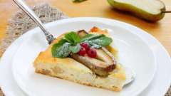 Вкусная запеканка творожная с грушей: рецепты