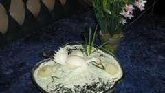 """Вкусный и красивый салат """"белый лебедь"""""""