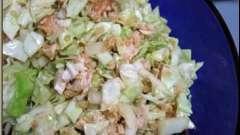 Вкусный и питательный салат с ветчиной и пекинской капустой