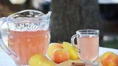 Вкусный компот из яблок и апельсинов