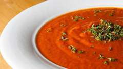 Вкусный томатный суп-крем
