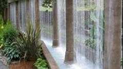 Водопад по стеклу в домашних условиях
