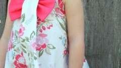 Выкройка детского платья с цельнокроеным силуэтом