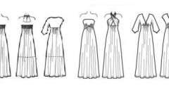 Выкройка длинного платья. Пошив длинного платья своими руками