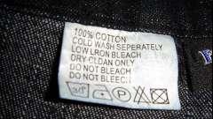 Зачем нужны знаки на ярлыках изделий? Треугольник на бирках одежды: значения символов