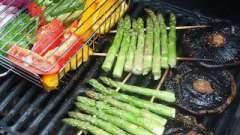 Запеченные овощи-гриль на решетке под маринадом