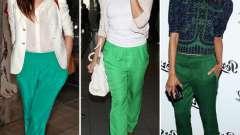 Зеленые брюки: с чем носить, чтобы выглядеть стильно и оригинально