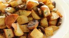Жареная картошка с грибами в мультиварке: пошаговый рецепт