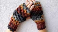 Зима близко: вязаные драконьи перчатки защитят от холодов