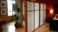 Зонирование пространства - раздвижные комнатные перегородки